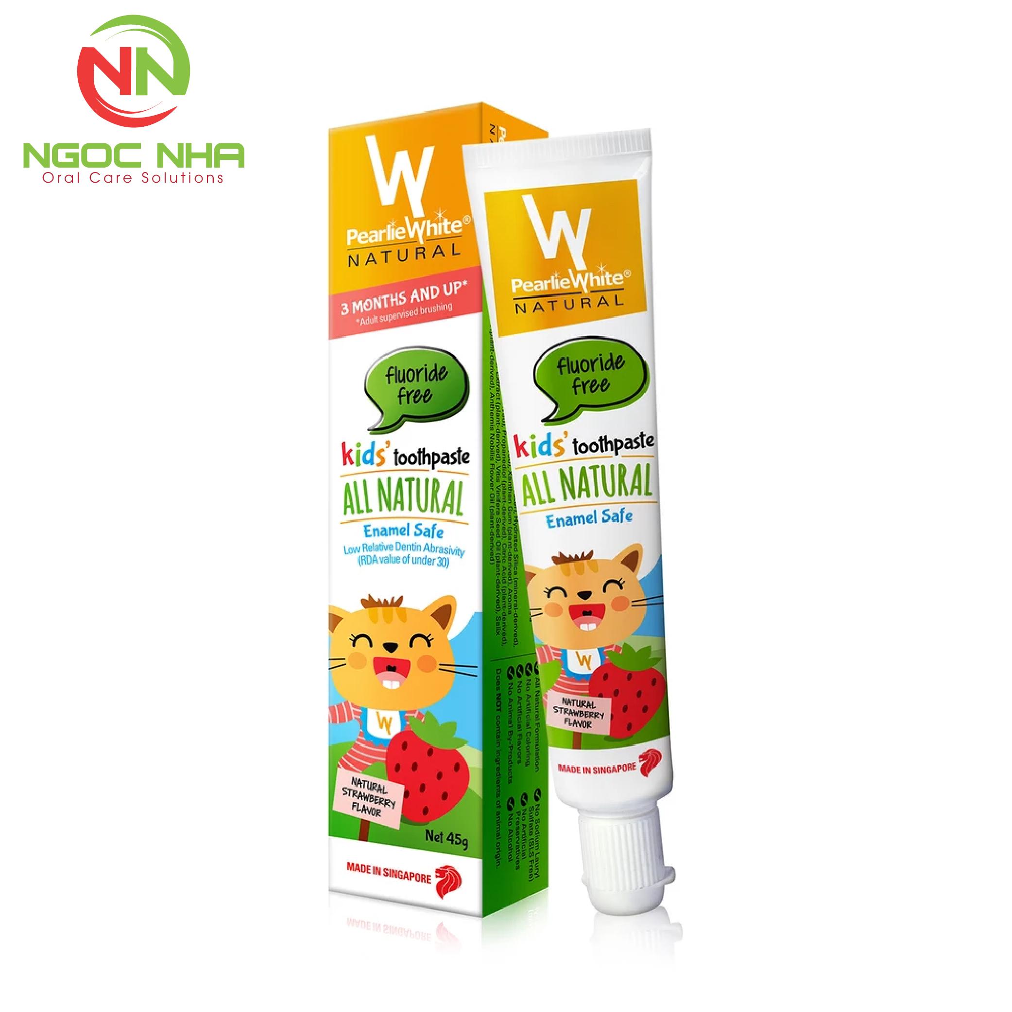 Kem đánh răng thiên nhiên không chứa Fluor chống sâu răng cho trẻ em