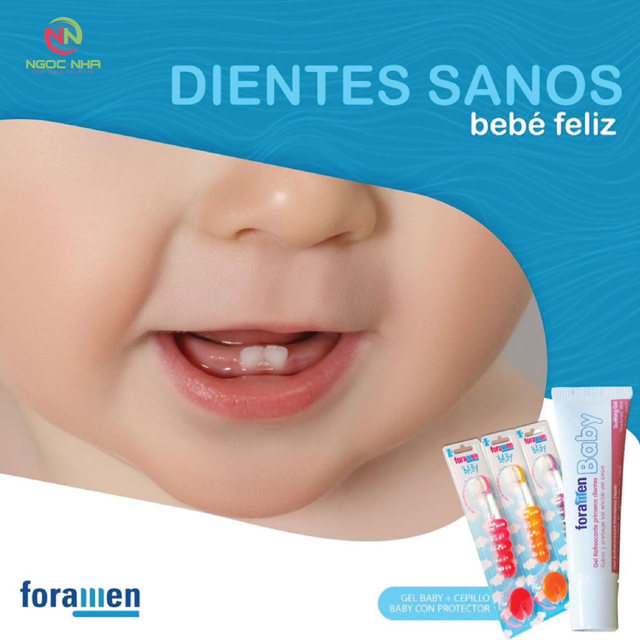 Gel bôi giảm sưng nướu và bệnh tay chân miệng trẻ em Foramen Baby 30ml