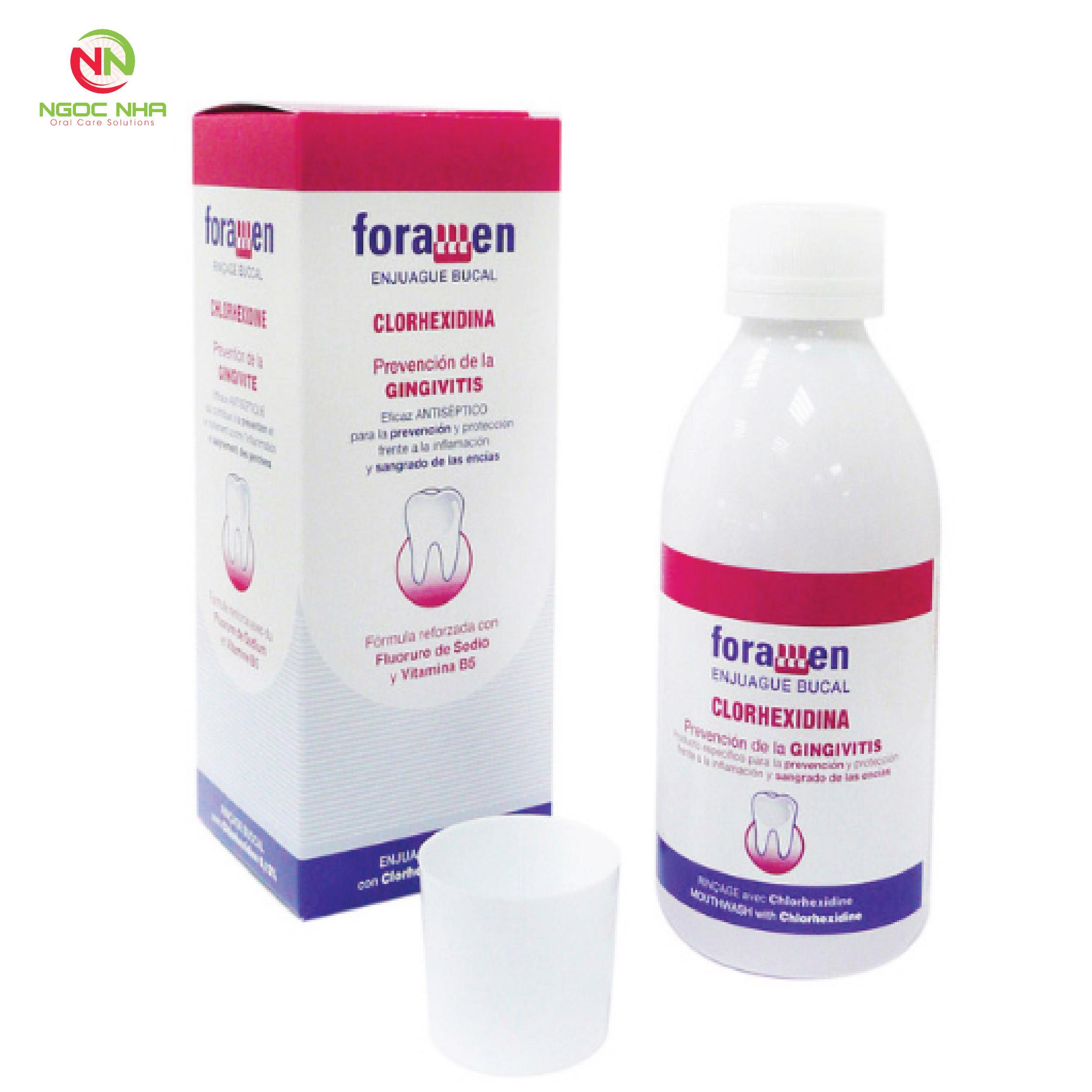 Nước súc miệng điều trị viêm nha chu - viêm nướu Foramen 250ml