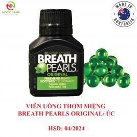 Viên uống thơm miệng Breath Pearls Original - Úc, lọ 50 viên